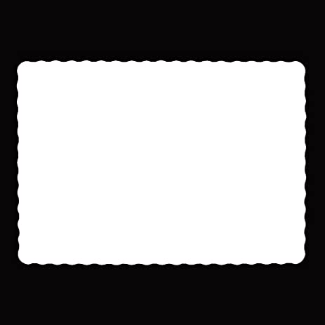 Disposable Paper Placemats 10 X14 White Pack Of 100 20 Pound Bond Scalloped Edge
