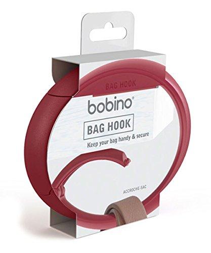 Rojo Burgundy Bobino Bag Hook Correa para equipaje 10 cm 1 liters
