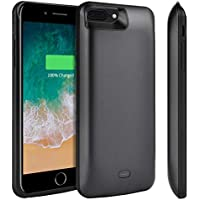 Tsmile 7300mAH Protective Charger Case Rechargeable Extended Battery Pack Portable Backup Charging Case Cover for Apple iPhone 8 Plus,7 Plus