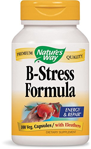 Nature's Way B-Stress with Siberian Eleuthero, 100 Capsules (Formula B-complex Vitamin)