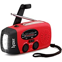Emergency Weather Radio [2018 Upgraded] Solar Hand Crank AM FM NOAA Radio Portable with LED Flashlight, All Weather Radio with 1000mAh Power Bank for iPhone/Smart Phone (Red)