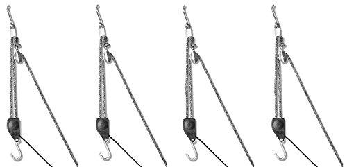 Carolina North Hang 'em High Hand Chain Hoist, Hook Mount, 250 lbs Capacity, Lift, Headroom (4-(Pack))