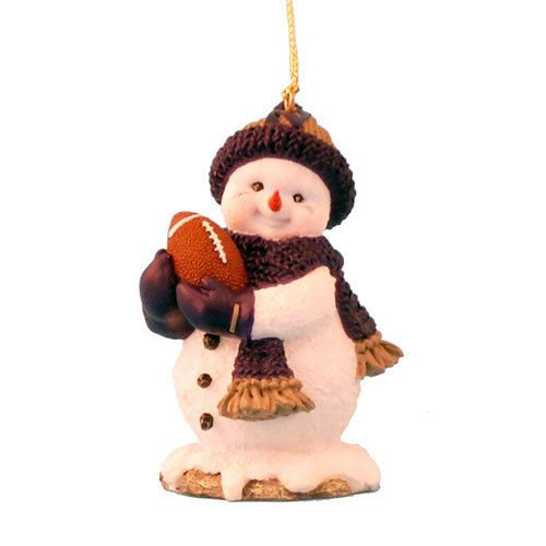 NORTHWESTERN WILDCATS FOOTBALL SNOWMAN HOLIDAY ORNAMENT ()