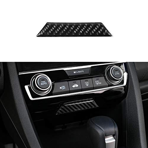 Thenice for 10th Gen Civic Real Carbon Fiber Passenger Airbag Light Trims Cover for 2016 2017 2018 2019 Honda Civic (no Logo)