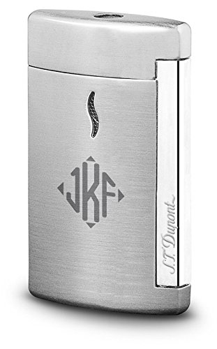 Personalized S.T. Dupont Minijet Brushed Chrome Torch Flame Lighter with Free Engraving by S.T. Dupont