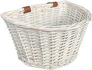 OYPEIP Handlebar Bike Basket, Front Handlebar Adult Craftsmanship Bicycle Storage Basket with Leather Bicycle