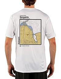"<span class=""a-offscreen"">[Sponsored]</span>Coastal Classics Sequim Chart Men's UPF 50+ UV/Sun Protection Short Sleeve T-Shirt"
