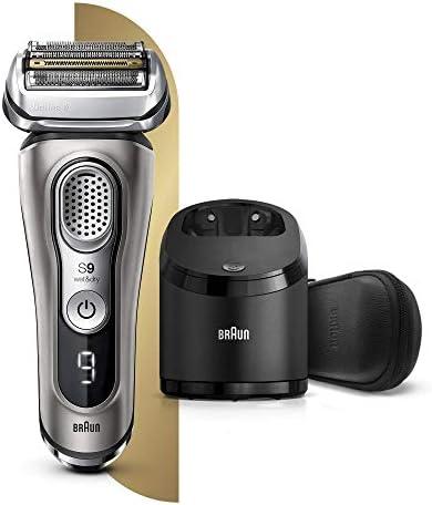 Braun Series 9 9385cc Afeitadora Eléctrica Hombre de Última Generación, Afeitadora Barba con Estación Limpieza y Carga Clean&Charge, Funda, Color Grafito: Amazon.es: Salud y cuidado personal