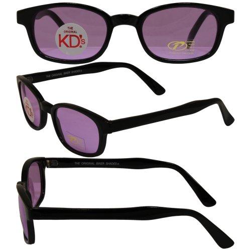 Original KD's Biker Sunglasses with Purple - Sunglasses Scream