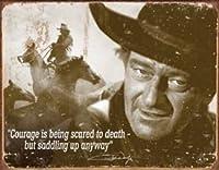 Desperate Enterprises John Wayne Courage Collectible Metal Sign, Model# 1429 , 16x12