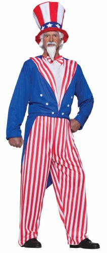 Forum Novelties Men's Uncle Sam Costume, Red/White/Blue, Plus