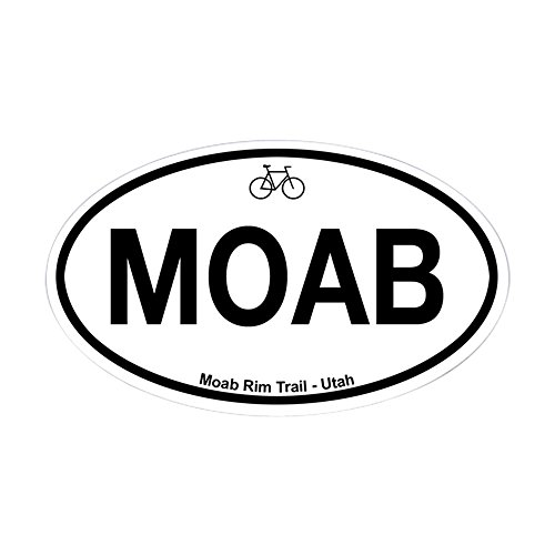 CafePress Moab Rim Trail Oval Bumper Sticker, Euro Oval Car Decal (Best Moab Mountain Bike Trails)