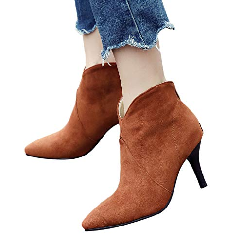 - TnaIolr Women Pointed Shoes Boots Casual Stiletto Boots Wild Ankle Boots Ladies Boots 2018