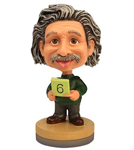 OZUKO Albert Einstein Bobblehead Action Figure for Car Dashboard Einstein Statue Home Desk Decoration (Green)