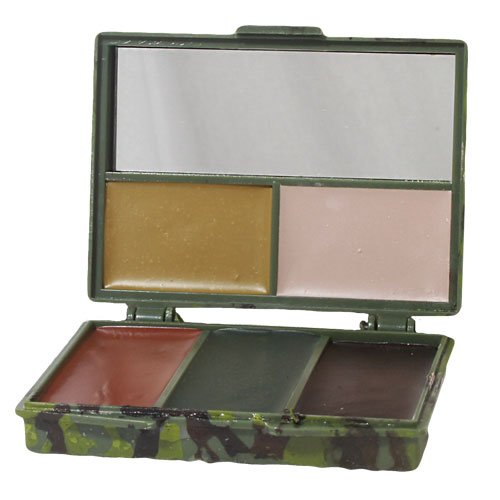 Fox Outdoor Products Camouflage Compact Face Paint, Light Green/Dark Green/Black/Brown/Tan, One Size ()