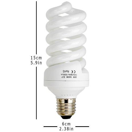 Fotodiox 30 Watt Daylight Compact Fluorescent Cfl Light Bulb Full Spectrum Ebay