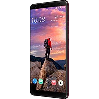 HTC U12+ Plus Dual-SIM 64GB (GSM Only, No CDMA) Android Factory Unlocked 4G/LTE Smartphone - International Version (Flame Red)