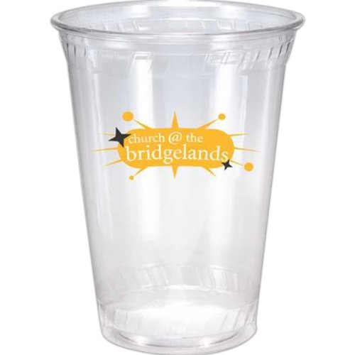 12 oz. Clear Soft-Sided Plastic Cup,full case of 1000