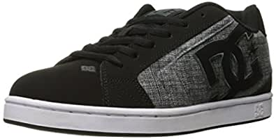DC Men's Net SE Skate Shoe, Black Marl, 6 M US