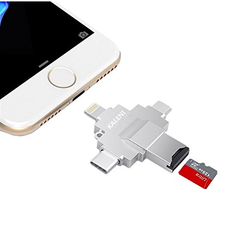 KALENI Micro SD Card Reader, with Lightning&Type c& Micro US