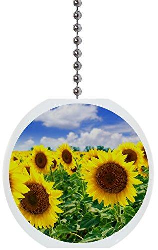 Sunflowers in Field Solid Ceramic Fan Pull ()