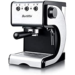 Barsetto Espresso Machine, 13.6 x 11.8 x 15.8, Black