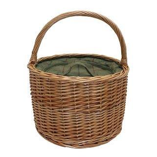 Grüne Tweed Runde Wicker Chiller Basket