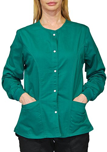 Hey Medical Uniforms Simply Smile Stretch Twill Snap-Front Warm-Up - Uniforms Hey