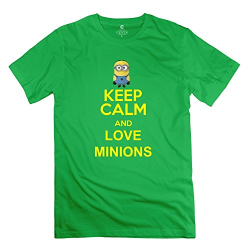 ZZY Particular Cute Despicable Me Minions Dave T-shirt - Men's Tshirts ForestGreen Size XXL