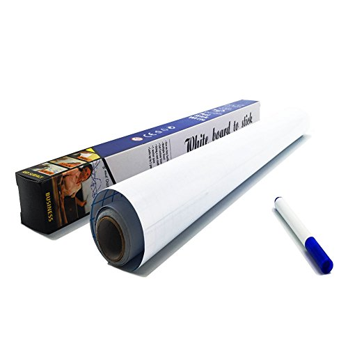Board Poster Adhesive (Dry Erase Wall Decal - Self Adhesive Whiteboard Contact Paper - Stickers a Roll 17.7