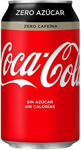 Coca-Cola - Zero Zero (Sin Cafeína), Lata 330 ml - [pack de 12 ...