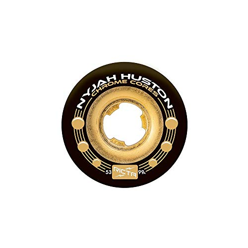 Ricta Nyjah Huston Chrome Core 99a Skateboard Wheels,Multicolored,53mm ()