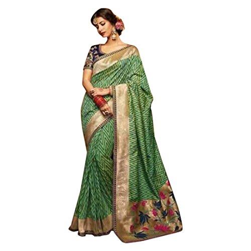 Zari Saree Collection Silk Bridal Sari Blouse Designer Women Indian Ethnic HIT 2684 ()