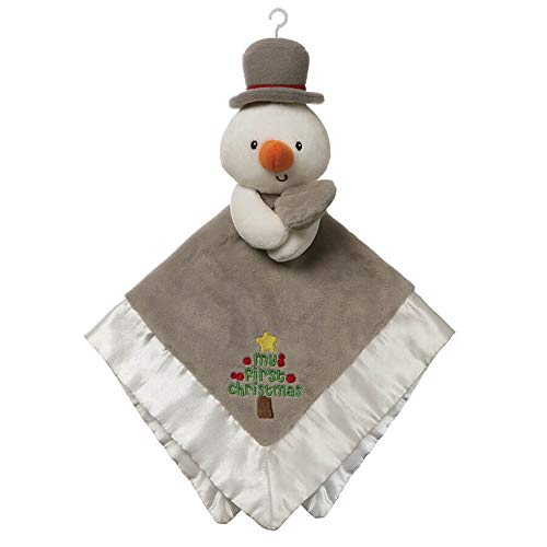 GUND Baby My First Christmas Snowman Lovey Plush Blanket, 12