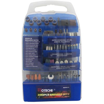 300 Piece Complete Grinder Bit & Accessory Set- Fits Dremel Style & Rotary Type Tools