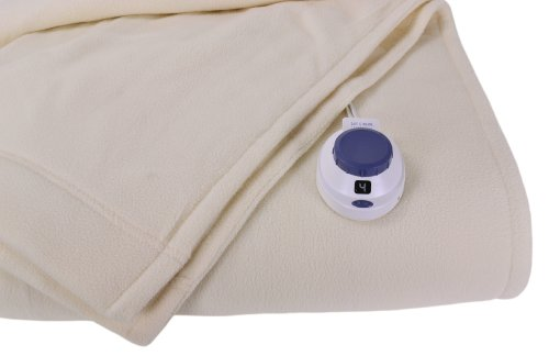 Microfleece Throw (Soft Heat Luxury Micro-Fleece Low-Voltage Electric Heated Throw, Natural)