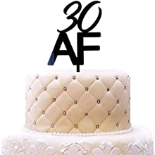 30 AF Acrylic Cake Topper, Happy 30th Birthday Cake Toppers, Dirty 30 Party Decorations, Black Mirror