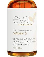 Vitamin C Serum Plus 2% Retinol, 3.5% Niacinamide, 5% Hyaluronic Acid, 2% Salicylic Acid, 10% MSM, 20% Vitamin C - Skin Clearing Serum - Anti-Aging Skin Repair, Supercharged Face Serum (1 oz)
