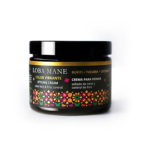 Loba Mane Natural Styling Cream - With Nourishing Organic Coconut, Buriti & Tucuma - Defines Style, Tames Frizz and Moisturizes, Leaving Hair Soft and Manageable - Safe for Color Treated Hair