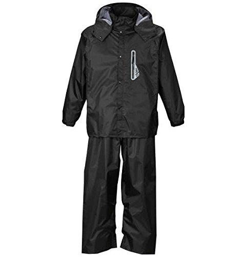 ( エムシーエスピー ) Mc.S.P 透湿 防水 レインスーツ 大きいサイズ ブラック キング ビッグ ラージ B076MVM3SV 4L|2 ブラック 2 ブラック 4L