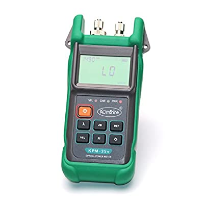 FTTH Fiber Optic Tester 2-in-1 Optical Power Meter & Visual Light Source KomShine KPM-35V SIX Wavelength