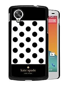 Unique Designed Kate Spade Cover Case For Google Nexus 5 Black Phone Case 304