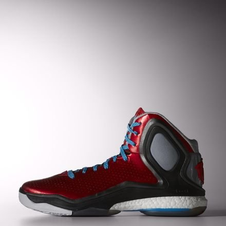 寺院トランスペアレントフォーマルadidas D Rose 5 Boost Mens Basketball Sneakers/Shoes-Red-32.5