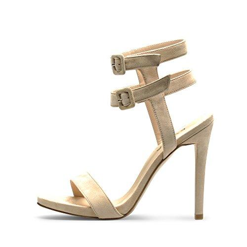 Evita Shoes - Sandalias de vestir de Piel para mujer Rosa - carne