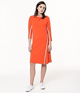 Femme Robe Maille Orange Made France Devernois Taille In SUVLGqpMz