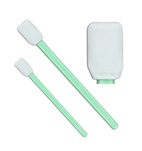 100Pcs Cleaning Swabs Rectangle Double-Layer Microfiber Soft Tip 5'' Long Handle Swabsticks for Printhead, Camera Sensor, Optical Lens, Electronics, Automotive Detailing