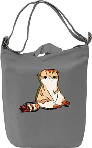 Cute Kitty Borsa Giornaliera Canvas Canvas Day Bag| 100% Premium Cotton Canvas| DTG Printing|