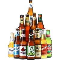 Assortiment Bières du Monde - Pack 12 bières (25 à 35,5 cl) - Idée Cadeau - Saveur Bière