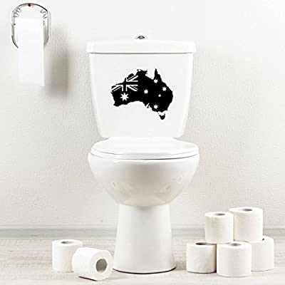 StickAny Bathroom Decal Series Australia Country w Flag Sticker for Toilet Bowl, Bath, Seat (Default)