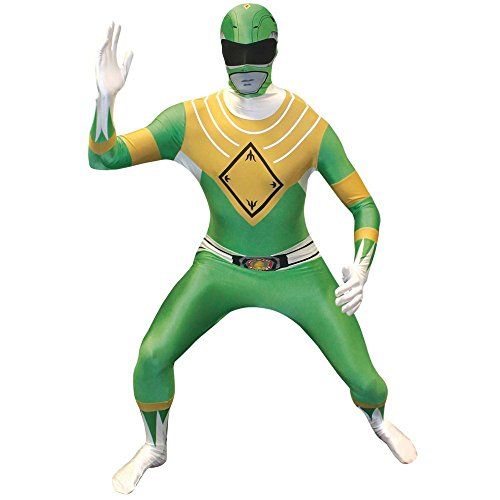 Official Power Ranger Morphsuit Costume,Green,Small 4'6